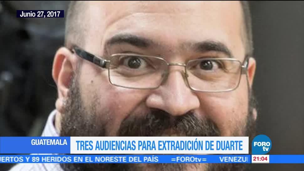 noticias, forotv, Duarte, 3 audiencias, Guatemala, Javier Duarte
