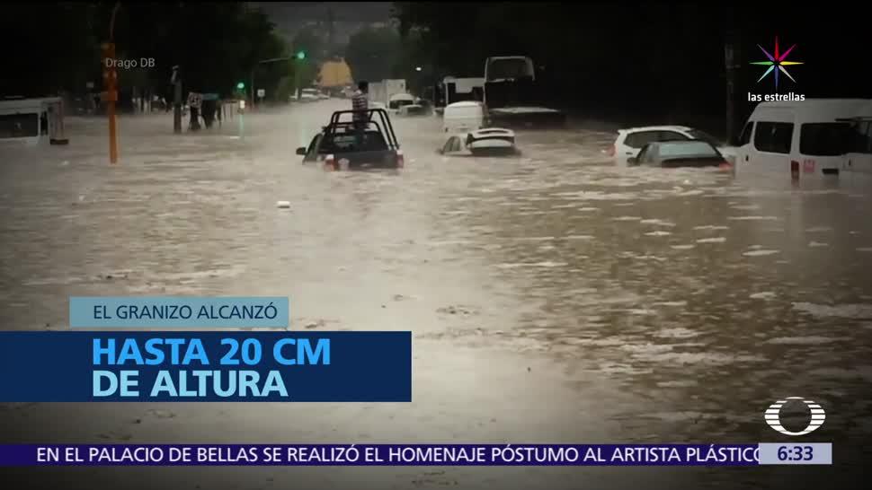 inundaciones, Valle de México, lluvias intensas, drenaje, calles, basura