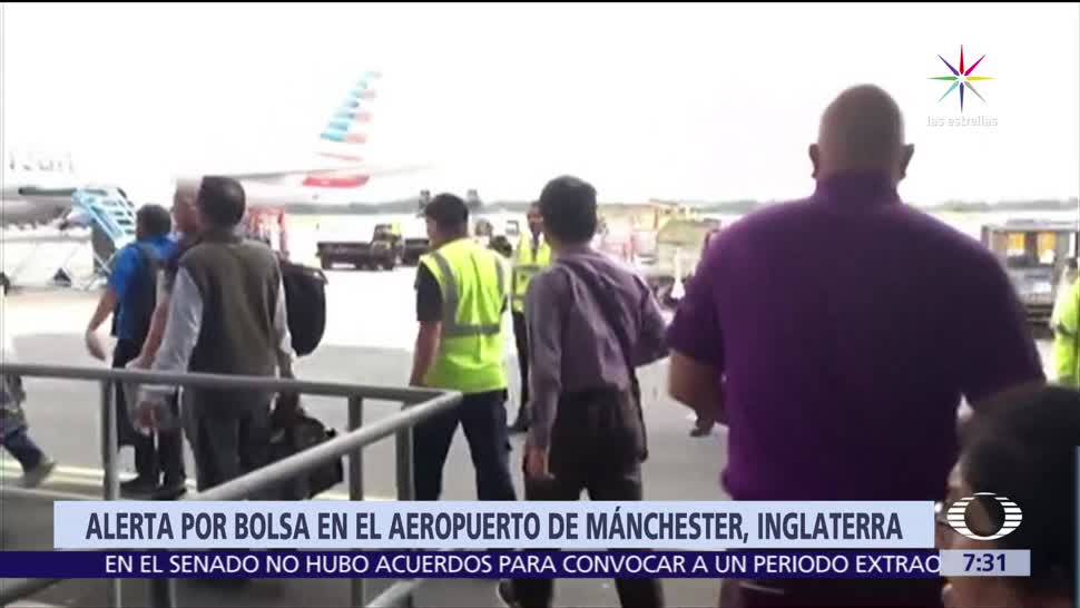 terminal 3, Aeropuerto de Manchester, paquete sospechoso, expertos en explosivos