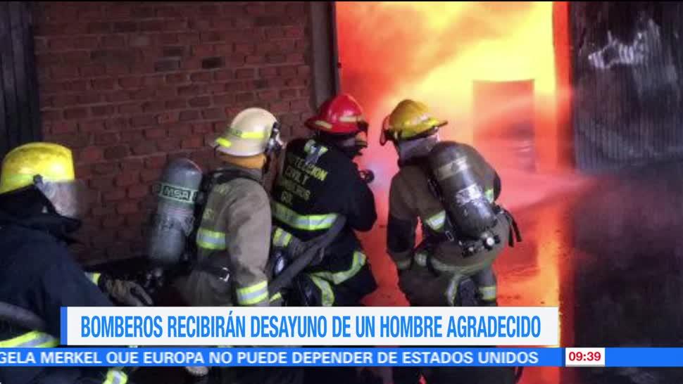 bomberos de Chihuahua, incendio, empresario, desayunos