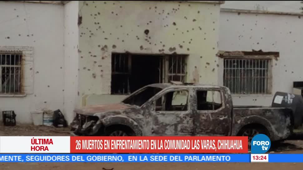 noticias, forotv, Enfrentamiento, comunidad Las Varas, Chihuahua, 26 muertos