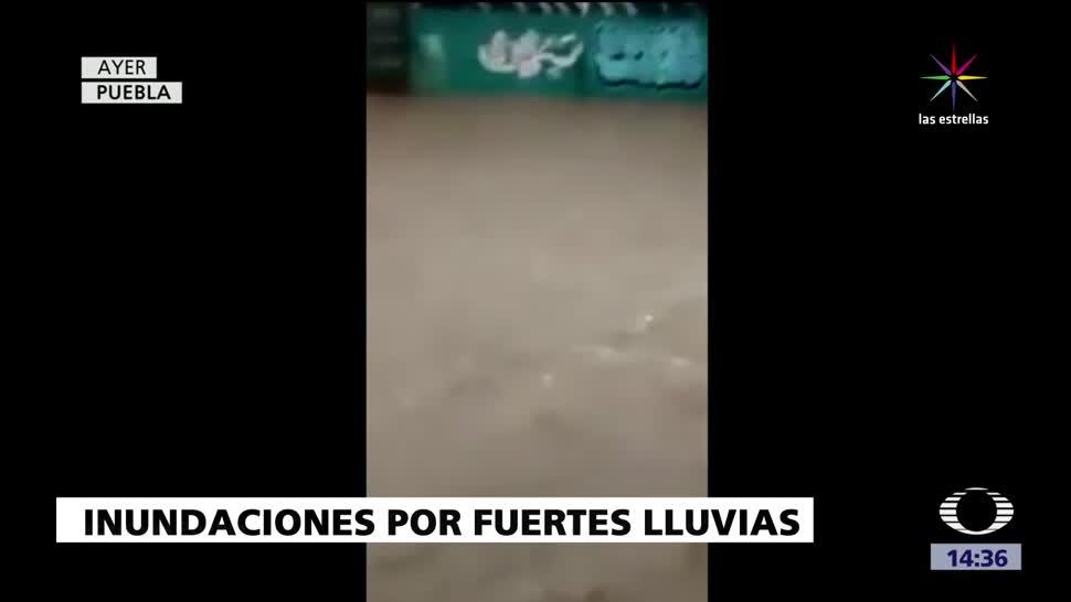 noticias, televisa, Inundaciones, Puebla, fuertes lluvias, desastre vial