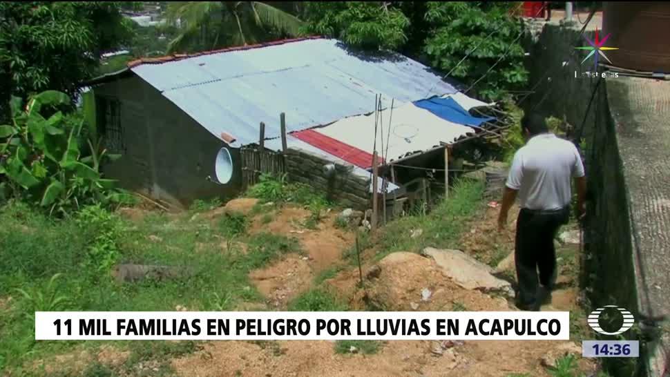 noticias, televisa, Familias, riesgo en Guerrero, Protección Civil, zonas de riesgo