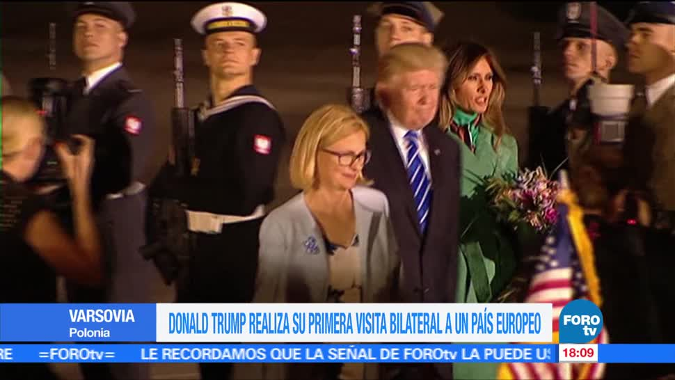 presidente, Estados Unidos, Donald Trump, llega Varsovia, cumbre, g20