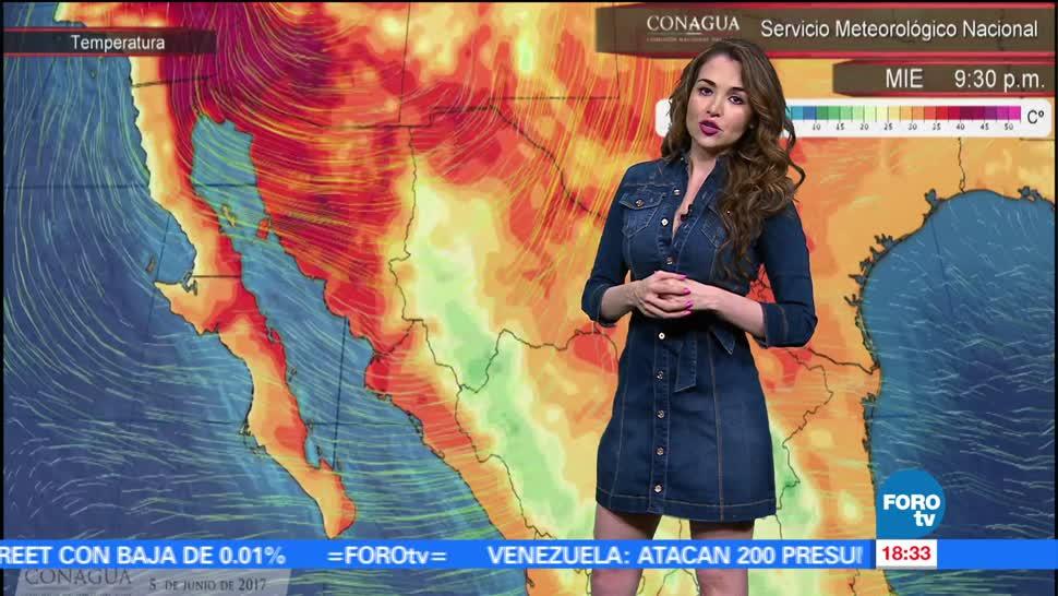 El Clima, condiciones climatológicas, Mayte Carranco, jueves, lluvia, calor