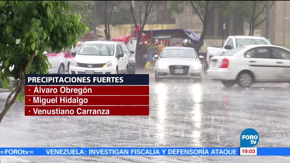 Fuertes, lluvias, gran parte, CDMX, afectaciones, delegaciones