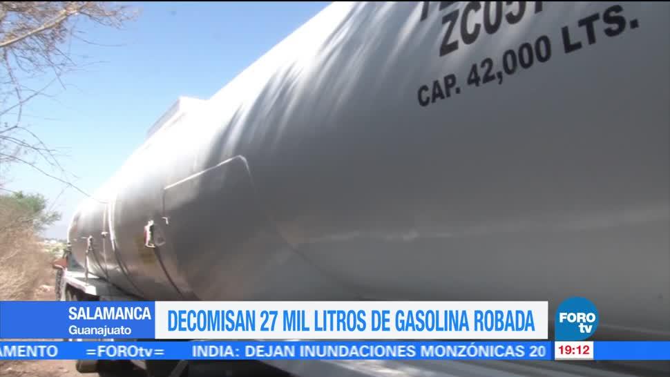 Decomisan, gasolina, robada, Guanajuato, decomiso, huachicoleros