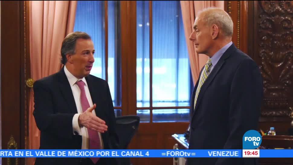 José Antonio Meade, John Kelly, dialogan, espacios de cooperación bilateral, secretario de hacienda, estados unidos