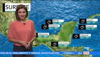 onda tropical, centro del país, lluvias, República Mexicana