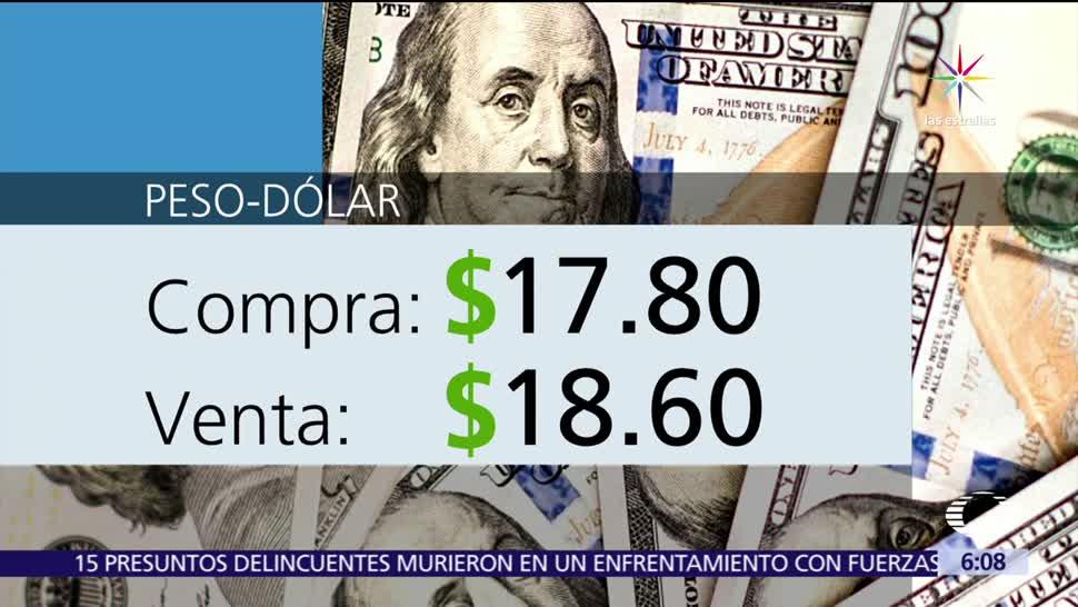 dólar, ventanillas bancarias, Ciudad de México, 17.80