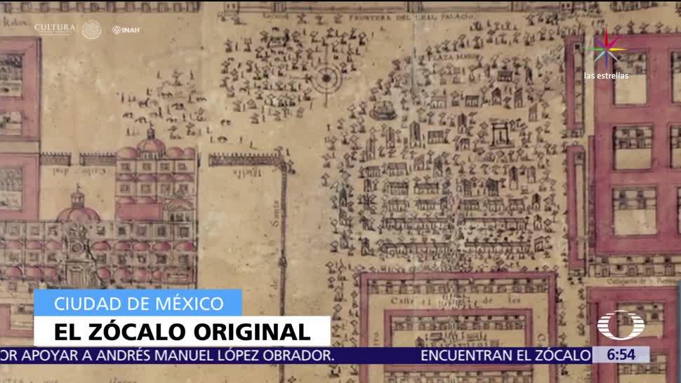 Arqueólogos del INAH, Zócalo original, CDMX, bandera monumental