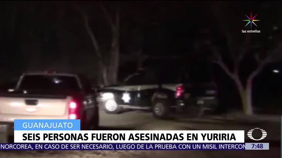 grupo armado, fuego, Yuriria, Guanajuato, muertos