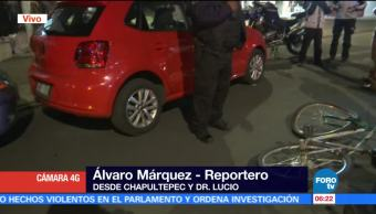 vehículo atropella, ciclista, avenida Chapultepec, colonia Doctores