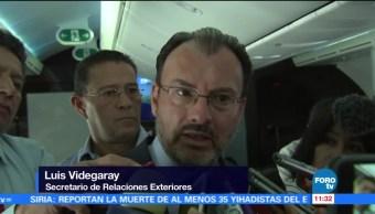 Donald Trump, Enrique Peña Nieto, canciller Luis Videgaray, reunion