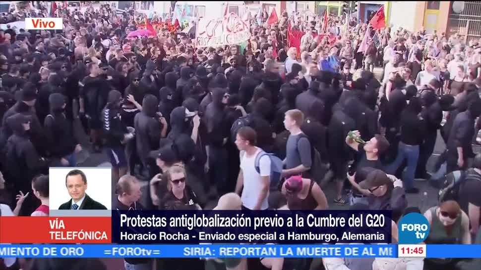 Horacio Rocha, corresponsal, Hamburgo, protestas violentas, Cumbre del G20