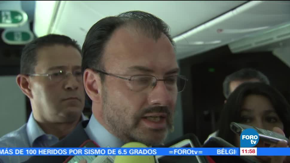 Luis Videgaray, secretario de Relaciones Exteriores, gobierno de México, democracia en Venezuela