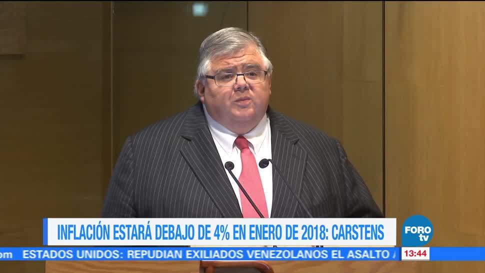 noticias, forotv, Inflación bajará, Agustín Carstens, Banco de México, promedio de la inflación
