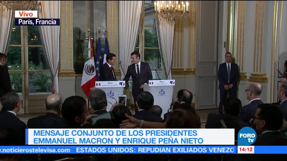 noticias, forotv, EPN, Macron, destacan, relación franco-mexicana