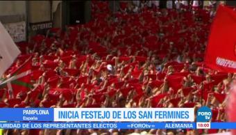 noticias, forotv, Inician, festejos, San Fermín, Inician los festejo de San Fermín