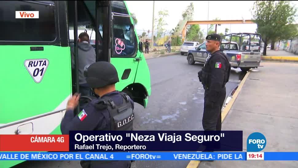 noticias, forotv, Aplican, operativo, Neza Viaja Seguro, Nezahualcóyotl