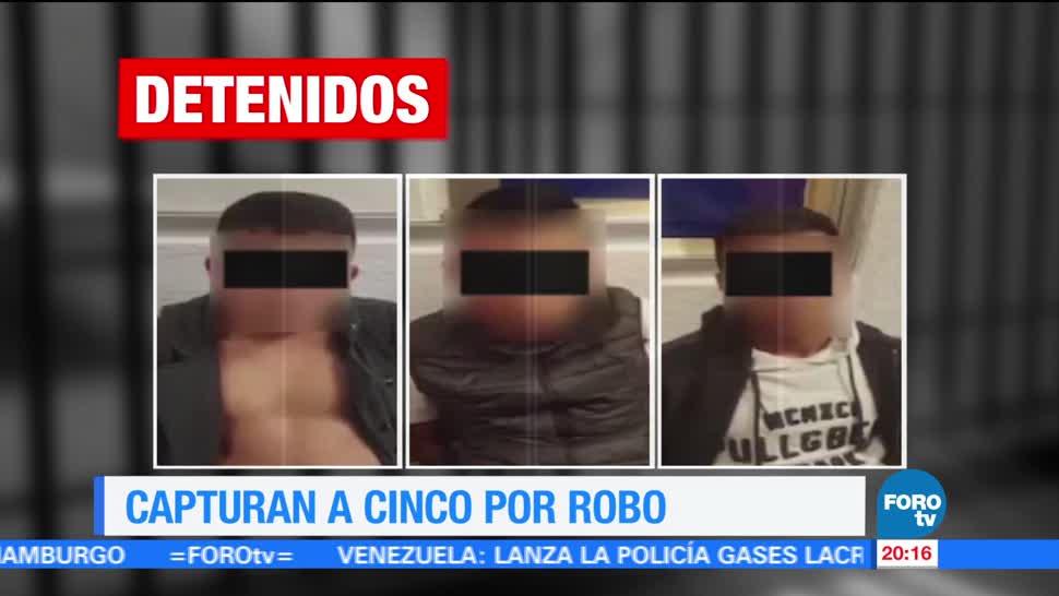 Detienen, cinco, sujetos, robo, delegación, Benito Juárez