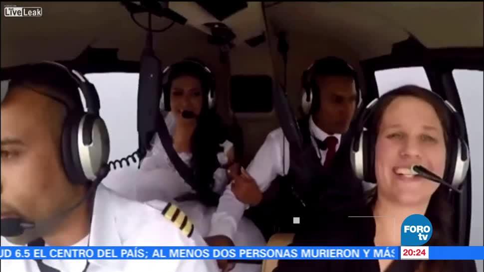 Cae, helicóptero, transportaba, novia, Brasil, rumbo boda