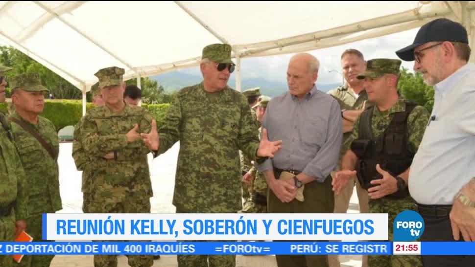 John Kelly, se reúne, Salvador Cienfuegos, Vidal Soberón, sedena, Semar
