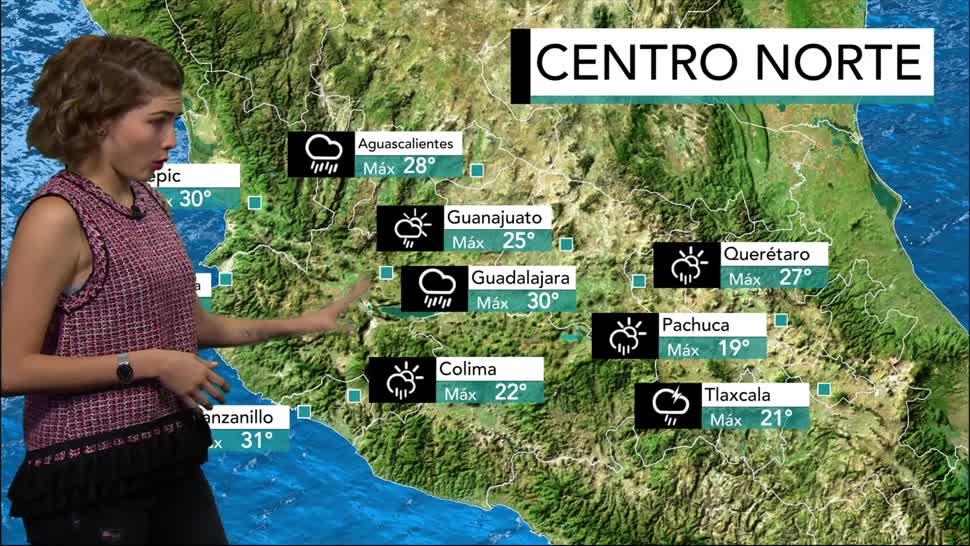 El clima, Daniela Álvarez, pronóstico de tormentas, viernes