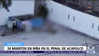 Suman 28 muertos, riña en el penal de Acapulco, Las Cruces de Acapulco, Guerrero