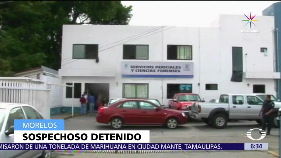 Policía de Morelos, detiene a sospechoso, matar a niña a golpes