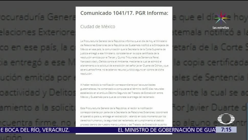 México, 60 días, extradición, Javier Duarte