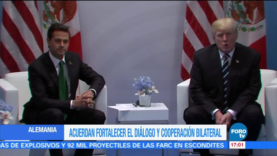 noticias, forotv, encuentro, EPN, Trump, Alemania