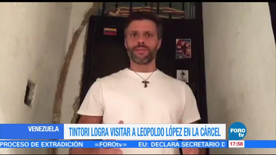 noticias, forotv, Lilian Tintori, reúne, Leopoldo López, cárcel de Ramo Verde