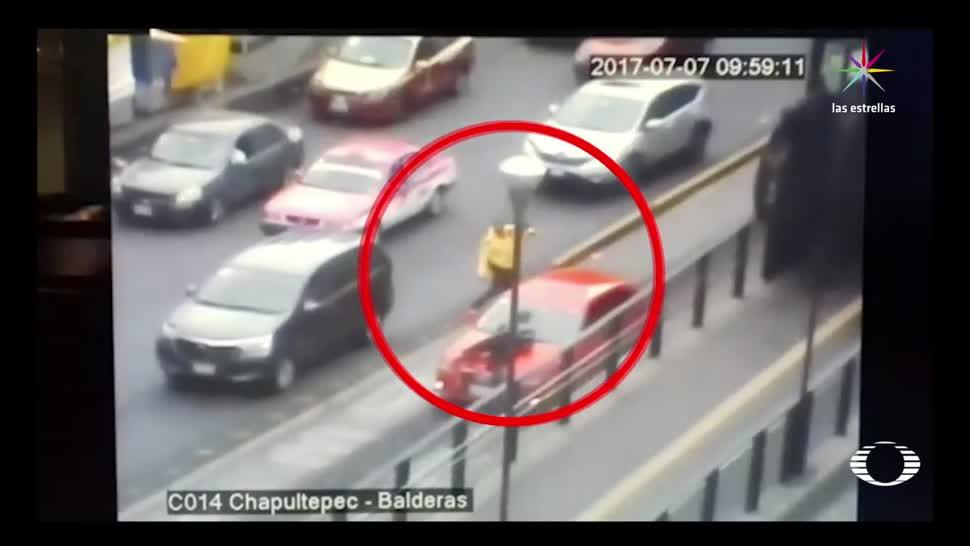 Atropellan, arrastran, policía tránsito, CDMX, video, ciudad de méxico