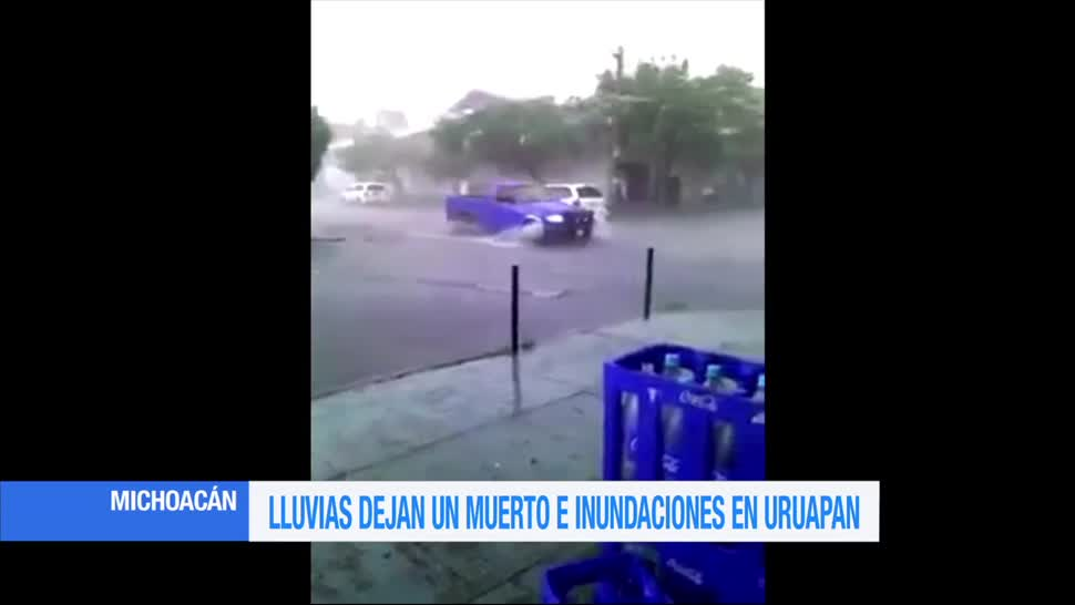 Lluvias, Uruapán, un muerto, un lesionado, afectaciones, cobran vida