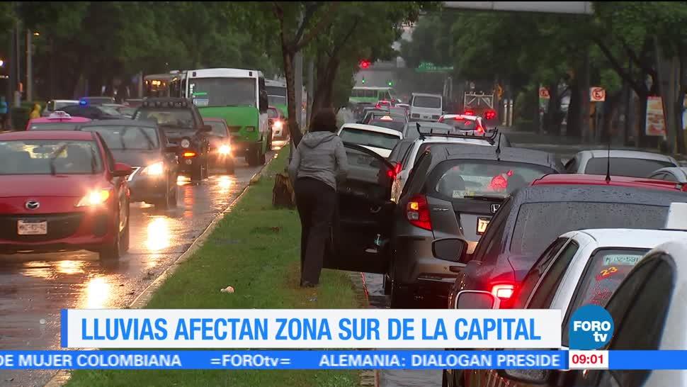 lluvias, encharcamientos, afectaciones viales, Ciudad de México, Sistema de Aguas