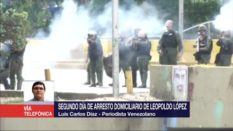 Segundo Día, Arresto Domiciliario, Leopoldo López, Luis Carlos Díaz