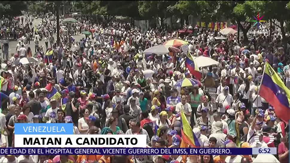 Asesinan a José Luis Rivas, candidato, Asamblea Constituyente de Venezuela, acto de campaña