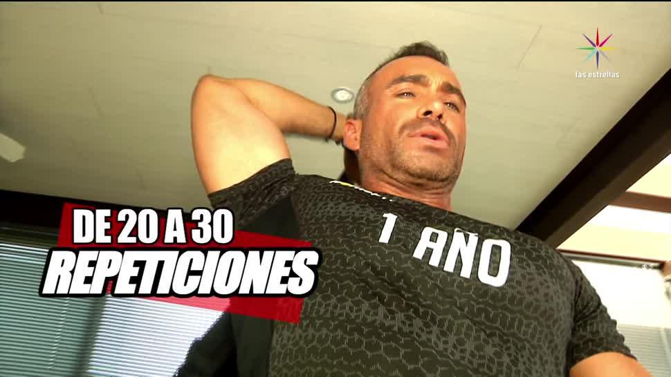 Diego Di Marco, realizar, ejercicios en casa, mochila