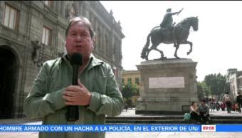 maestro, Armando Ramírez, estatua, Carlos Cuarto, El Caballito