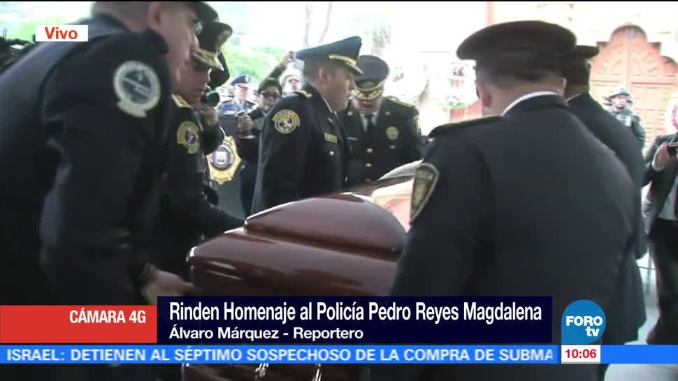 CDMX, homenaje, policía auxiliar muerto, instalaciones de CFE