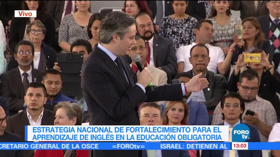 Aurelio Nuño, Aprendizaje Del Ingles, Educacion Obligatoria, Secretario De Educacion Publica