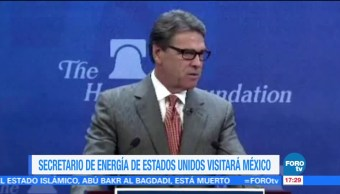 Rick Perry, secretario de Energía de EU, visitará México, reforma energética