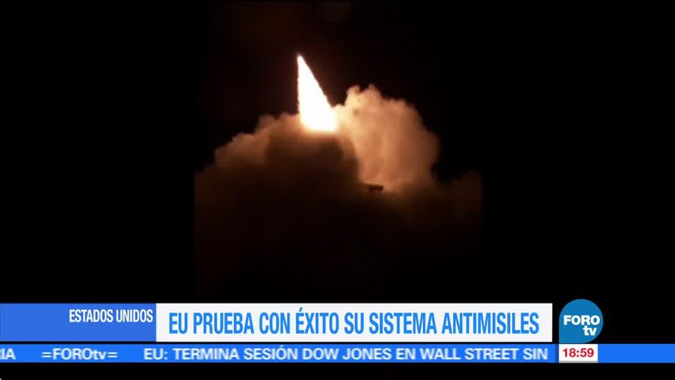 noticias, forotv, Estados Unidos, prueba, éxito, sistema antimisiles