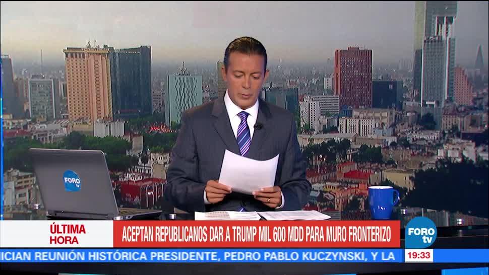 noticias, forotv, Republicanos, avalan, presupuesto, muro fronterizo de Trump