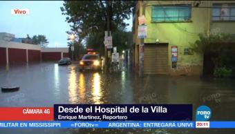 notiicias, forotv, Lluvias, afectan, inmediaciones, hospital general de la Villa