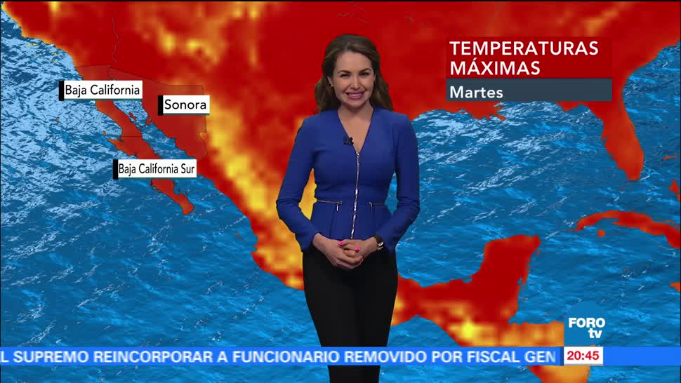noticias, forotv, El clima con Mayte Carranco, mayte carranco, clima, lluvias