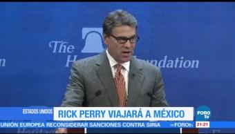 noticias, forotv, Rick Perry, reunirá, México, EPN