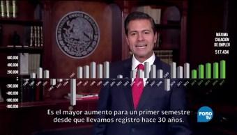noticias, forotv, EPN, destaca, creación de empleos, México