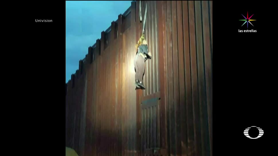 noticias, televisa, Procesan, mujer, encontraron colgada, muro fronterizo